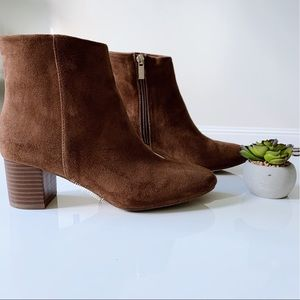 A New Day Suede Heeled Booties- Size 7